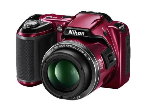 Nikon Coolpix L810 Digitalkamera (16 Megapixel, 26-Fach Opt. Zoom, 7,5 cm (3 Zoll) Display, bildstabilisiert) rot Nikon Digital-tv
