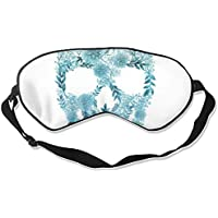 Schlafmaske mit Totenkopf im Aquarellstil, atmungsaktiv, für Herren, Damen, Kinder, Weiß preisvergleich bei billige-tabletten.eu