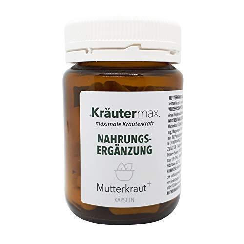 Mutterkraut 60 Kapseln, Vorratspackung für 30 Tage, mit 100 mg Mutterkraut Extrakt, Vitaminen, Ingwer und Magnesium, Mutterkraut Kapseln hochdosiert, produziert in Österreich oder Deutschland
