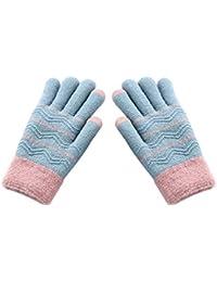 JUNGEN Gants en Tricot pour Enfants Gants Chauds d hiver Gants Épaissir  Corde Doigt Complet c09d1f29ae7