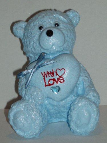 avec-amour-coeur-love-bb-bleu-ours-en-peluche-extrieur-cimetire-tombe-mmorial-hommage-dcoration