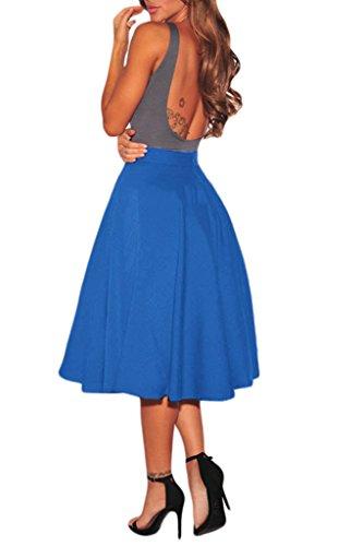 DOKOTOO - Jupe spécial grossesse - Trapèze - Femme Bleu