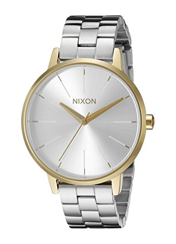 Nixon Women's A0992062 Kensington Analog Display Analog Quartz Silver Watch