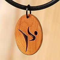 Karate, Kampfkunst Anhänger aus edlem Holz. Handgemachtes für die Freunde von Judo, Kendo, Tai Chi. Laubsägearbeit aus dem Edelholz Eibe.