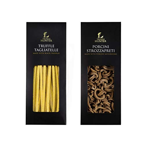 Authentic Black Truffle Pasta Set - TruffleHunter Porcini Strozzapreti 250g Truffle Pasta & TruffleHunter Truffle Tagliatelle Pasta (250g)
