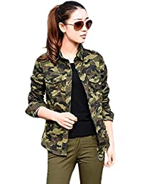 3590a8a0af5e9 ItkiUtki Girl s   Women s Military Camouflage Casual Multicolor Army Shirt