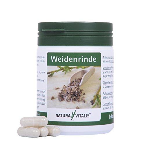 Natura Vitalis Weidenrinde 120 Kapseln - Hochdosiert