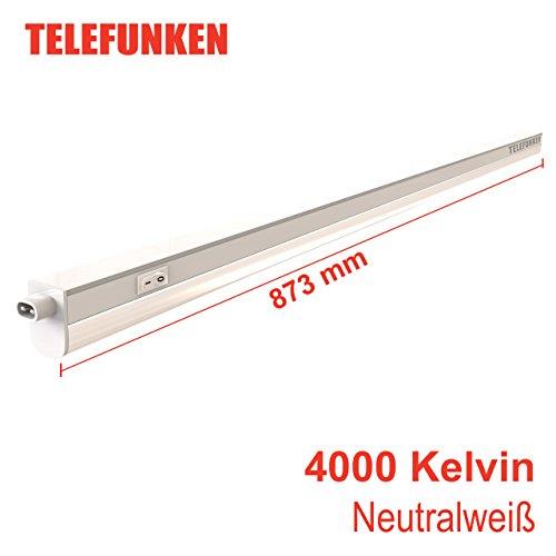 Telefunken - LED Unterbauleuchte, Unterbaulampe weiß, 87.3 cm, inkl. Schalter, 10W, 1100 Lumen, 4000 Kelvin, Licht: neutralweiß