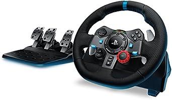 Logitech G29 Volant de Course PC, PS3 PS4, en Cuir métal - Noir