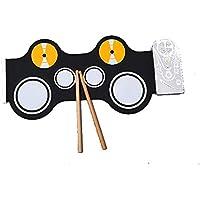 Baoffs Tambor electronico Digital Fuera de la Cabina Sonido No insípido No tóxico Gel de sílice Rodillos de Mano Portátil Mini para niños Principiantes