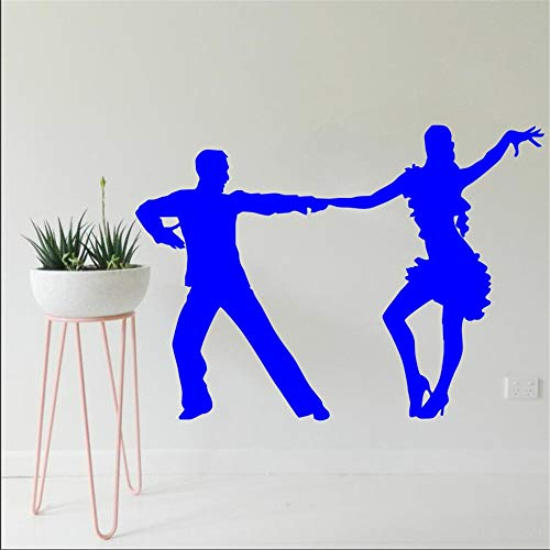 Ajcwhml Tanzen Silhouette wandaufkleber Wohnzimmer Mode Stil dekorative Wand Poster Vinyl 31X42 cm