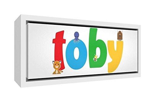 Little Helper Napperon avec Coaster Style Illustratif Coloré avec le Nom de Jeune Garçon Loan