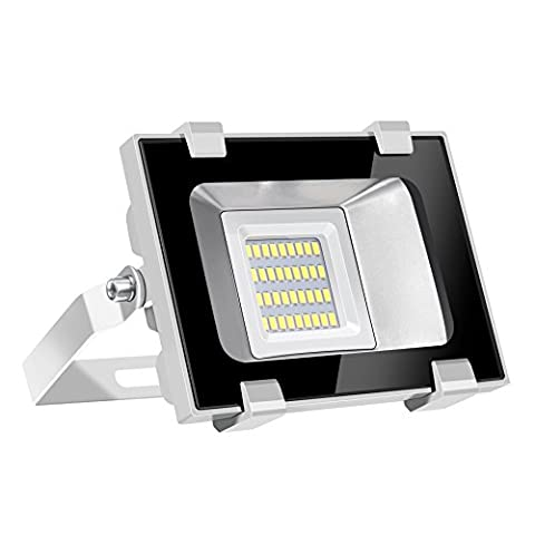 Viugreum 20W LED Outdoor Floodlight, Waterproof IP65, 2400LM, Daylight White(6000-6600K),