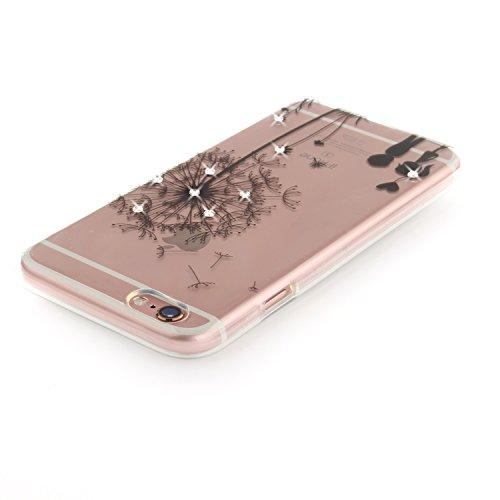 Apple iPhone 6/6S Coque, Voguecase (Diamant bling)TPU avec Absorption de Choc, Etui Silicone Souple Transparent, Légère / Ajustement Parfait Coque Shell Housse Cover pour Apple iPhone 6/6S 4.7 (creuse Les jeunes amoureux