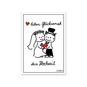 herzlichen gl ckwunsch zur hochzeit karte brautpaar lustiges design cartoon comic set zu. Black Bedroom Furniture Sets. Home Design Ideas