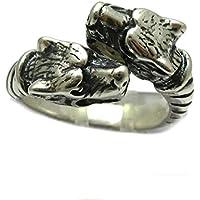 Anello in Argento 925 due Lupi R001735