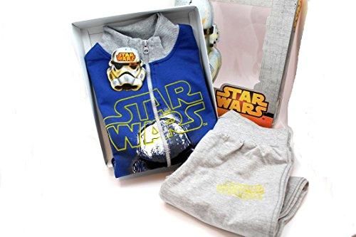 Star Wars Tuta felpata blu Maniche Lunghe Taglie 8-10-12 anni (8 anni)