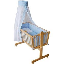 Honey Bee – Completa mecedora, cama, cuna para bebés -- azul - 51365-01