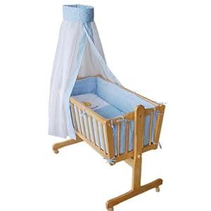 « Honey Bee » – Berceau bébé complet -- lit bébé -- lit de salon -- bleu clair-- 51365-01