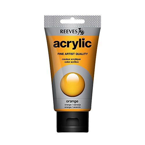 REEVES Acrylfarbe Acrylic, hohe Pigmentierung, 75ml Tube – Orange
