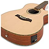 Guitare Electro acoustique Pan Coupé simple Deluxe par Gear4music Padauk