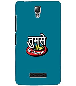 LENOVO A2010 TUMSE NA HO PAYEGA Back Cover by PRINTSWAG