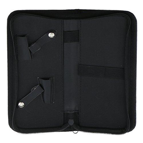 Sharplace Pochette Sac de Rangement pour Ciseaux de Coiffure - Etui en Cuir PU à Organisation Outils Coiffeur Barbiers - Noir