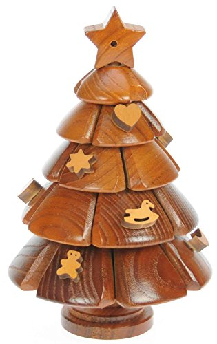 Albero di Natale : Puzzle Legno 3D : Rompicapo Adulti Bambini : Idea Del Regalo di Natale o di Compleanno : Dimensioni 20 x 13 cm