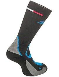 Calcetines de invierno para skiroll y esquí de fondo Ski skett, unisex, negro,
