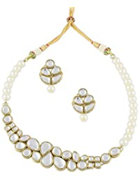 Shining Diva Traditional Kundan Jewellery Necklace Set For Women