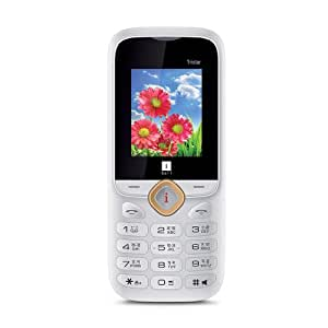 iBall 1.8L Tristar Mobile with Auto call Recording Feature (White + Gold)
