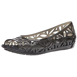 Crocs Isabella Jelly II Flat Women Sandals, Black, 6 UK (8 US)