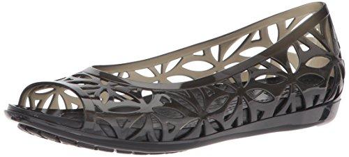 Crocs Isabella Jelly II Flat Women, Sandali a Punta Aperta Donna Nero (Black/black)