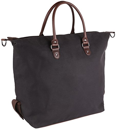 Shopper XXL 'Marley' in tela cerata antracite, colore:Antracite Antracite