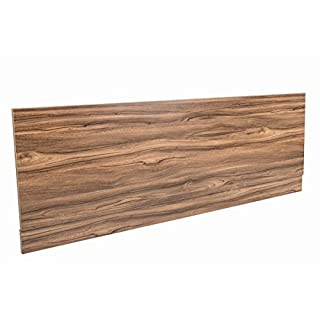 Aquariss 1700 mm Walnut Effect Front Straight Wrapped Wood Bath Panel