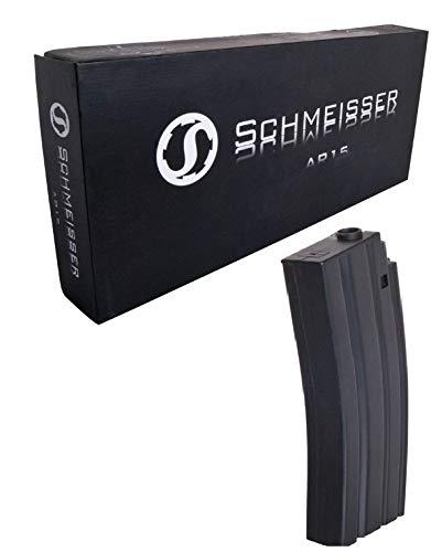 KOSxBO® Original Ersatzmagazin Schmeisser AR15 Softair Magazin 40 Schuss Low-Cap, schwarz -