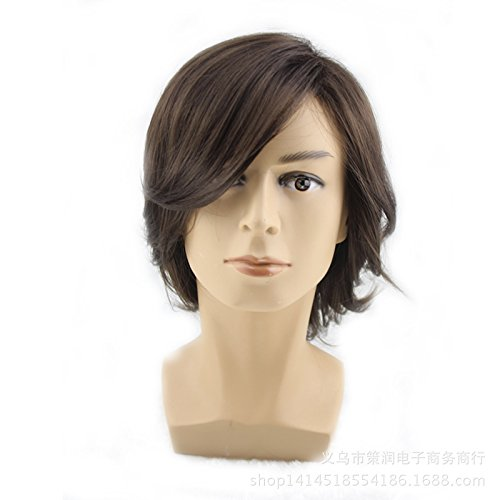Hommes de Western Costume Anime Cosplay perruque cheveux courts
