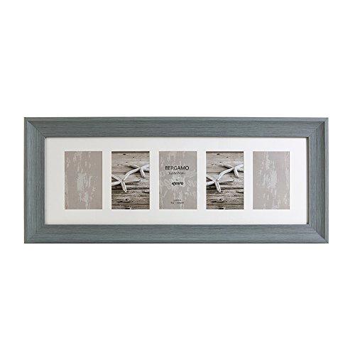 Kenro Bergamo Serie Foto Rahmen, rustikal grau, mehrere Blendenöffnungen, hält Fünf Fotos 15,2x 10,2cm/10x 15cm–berg1015gr/5
