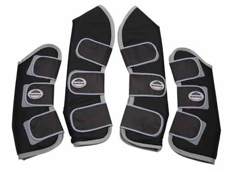 Weatherbeeta Set of 4 Travel Boot Full Size Navy/Silver