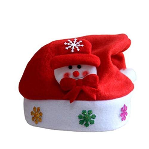 NiceButy Flashing Weihnachtsschneemann-Hut Unisex Weihnachten LED-Hut Lustige Feiertags-helle Kappe (mit eingebauter Batterie)
