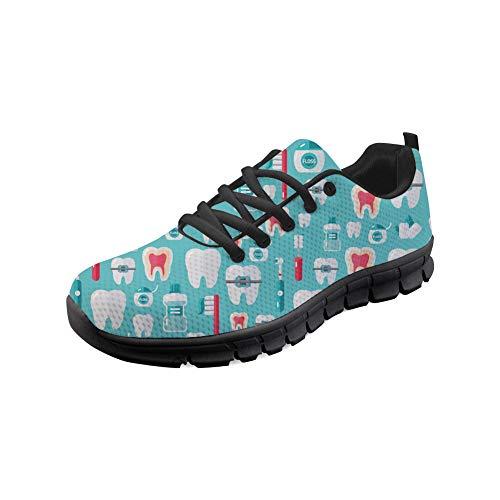 0158229bca677a Nopersonality Damen Sportschuhe Laufschuhe Bequem Atmungsaktives Turnschuhe  Sneakers Gym Fitness Leichte Schuhe - Dental - Blau