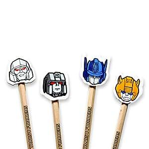 Transformers Gomme Topper Stylo (Lot de 4)