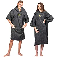 Beach Changing Robe - Premium 100% Cotton Poncho For Surfing, Swimming, Triathlon, Indoors and Outdoor Activities - Adults