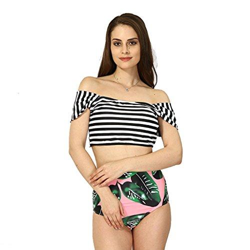 Ailin home- Europäischen und amerikanischen Bikini Damen Badeanzug sexy hohen Taille Kreuz Schulter Druck Split Badeanzug #1