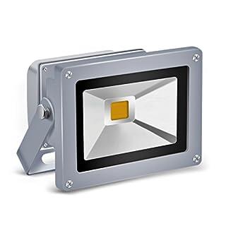 Auralum® Energy Saving 10W IP65 LED Waterproof Floodlight High Power Warm White(3000K) Outdoor Spotlight Gray