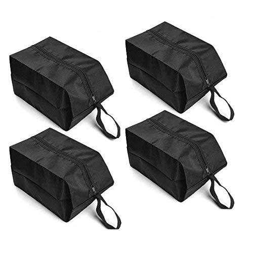 BAYA CORP Reisetaschen, wasserdicht, Nylon, mit Reißverschluss, für Damen und Herren, Schwarz, 4 Stück -
