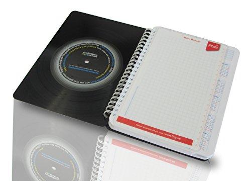 FLVG Lehrerkalender von Lehrern für Lehrer 2017/2018 DIN A5 mit upcycling Cover aus einer echten (used) Vinyl-Schallplatte, Spiralbuch handmade by JamOnMedia -