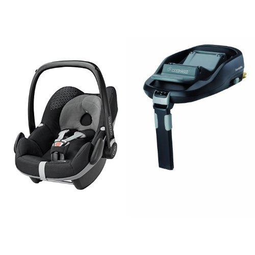 Maxi-Cosi Pebble Car Seat and FamilyFix (IsoFix) Base Bundle – Origami Black