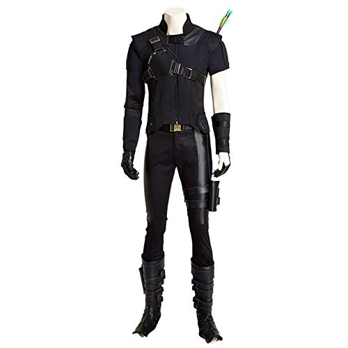 Hawkeye Kostüm Cosplay - nihiug Captain America 3 Bürgerkrieg Hawkeye Cosplay Kostüm Full Customized Set Requisiten Halloween,Black-XXXL