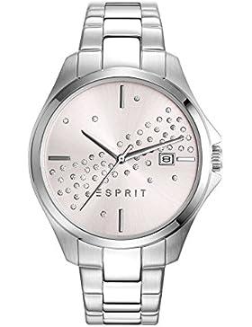 Esprit Damen-Armbanduhr ES-CECILIA SILVER Analog Quarz Edelstahl ES108432002